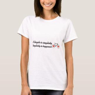 T-shirt Une bicyclette est simplicité