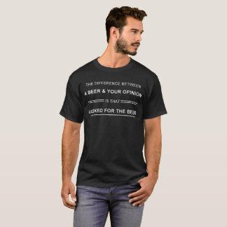 T-shirt Une bière et votre avis