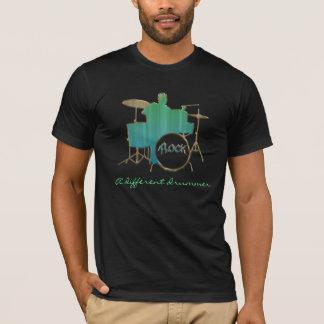 T-shirt Une chemise différente de musique de batteur