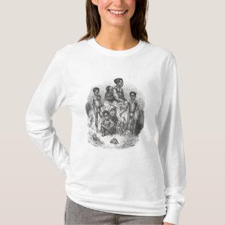 T-shirt Une famille de zoulou de l'histoire de l'humanité