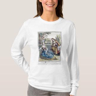 T-shirt Une femme assise sur l'herbe