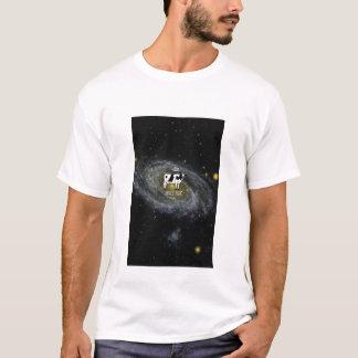 T-shirt Une vache deviennent ordure d'espace à l'univers