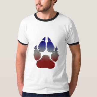 T-shirt Union Jack a coloré la patte de loup (non Camo)