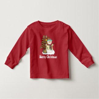 T-shirt unisexe de bonhomme de neige de Noël et