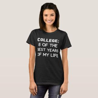 T-shirt Université 8 des meilleures années de mon