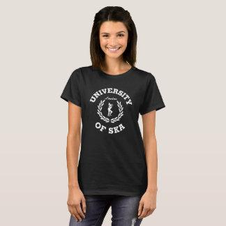 T-shirt Université des dames de Ska Londres blanches