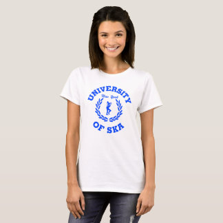 T-shirt Université des dames de Ska New York bleues