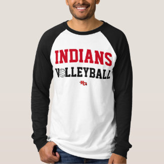 T-shirt Usage de fierté de volleyball d'Indiens