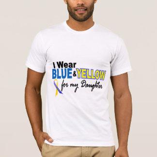 T-shirt Usage de syndrome de Down I bleu et jaune pour ma