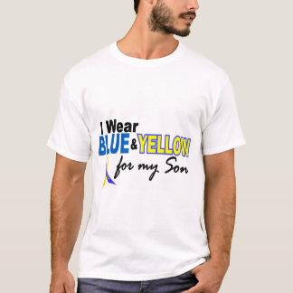 T-shirt Usage de syndrome de Down I bleu et jaune pour mon