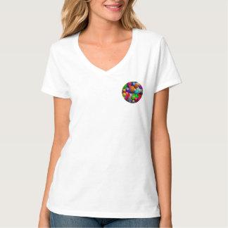 T-shirt V-Cou de nano de bulles