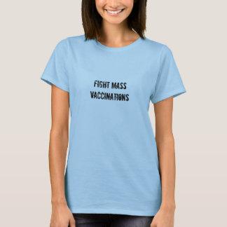 T-shirt VACCINATIONS de masse de combat - texte de