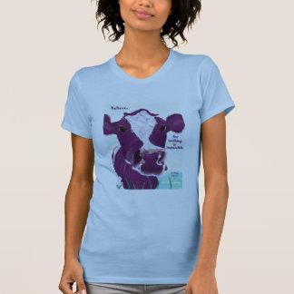 T-shirt Vache pourpre très probablement contemplant le vol