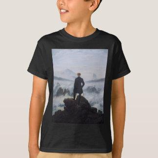 T-shirt Vagabond au-dessus de la mer du brouillard
