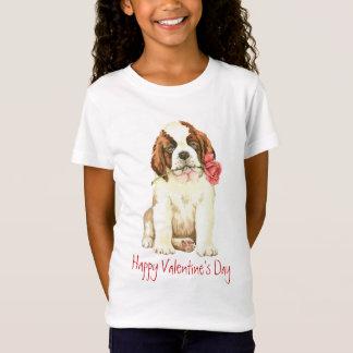 T-Shirt Valentine St Bernard rose