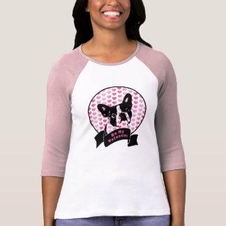 T-shirt Valentines - silhouette de Boston Terrier