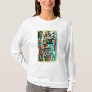 T-shirt Vallejo, la Californie - grandes scènes de lettre