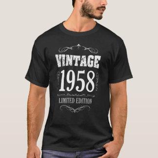 T-shirt van de Verjaardag van vintage 1958 de