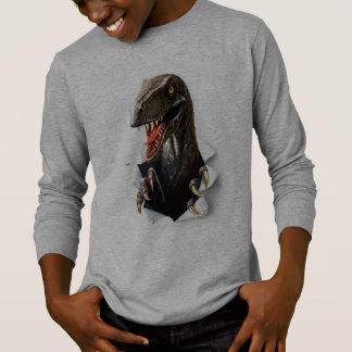 T-shirt van het Sleeve van de Dinosaurus van