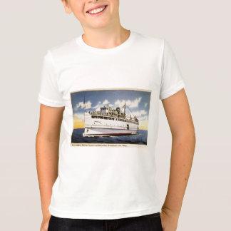 T-shirt Vapeur Naushon, ligne de bateau à vapeur de