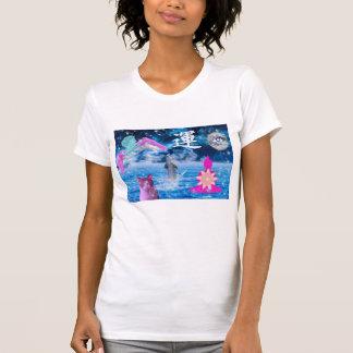 T-shirt Vaporwave - rêve de lune