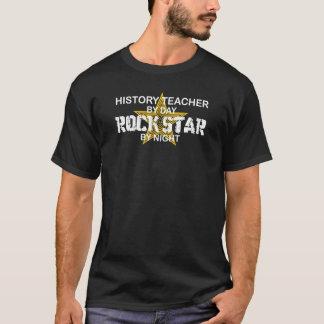 T-shirt Vedette du rock de professeur d'histoire