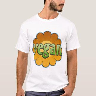 T-shirt végétalien d'enfant en bas âge de fleur