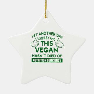T-shirt végétalien drôle ornement étoile en céramique