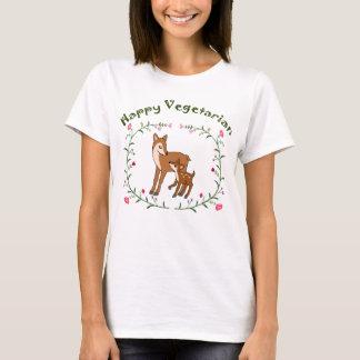 T-shirt Végétalien mignon d'enfant de maman de cerfs