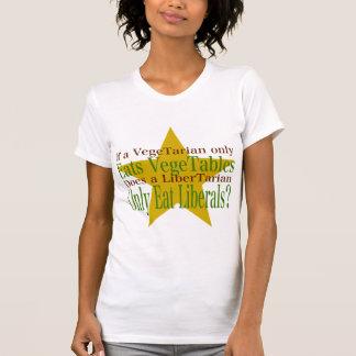 T-shirt Végétarien contre le libertaire