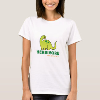 T-shirt végétarien herbivore de dinosaure
