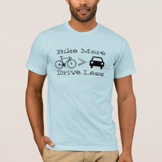 """T-shirt Vélo des hommes le """"davantage, conduisent moins"""""""