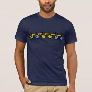 T-shirt vélos de couleur