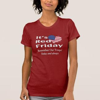 T-shirt Vendredi rouge