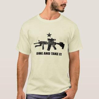 T-shirt Venez le prendre avec AR-15