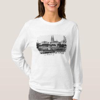 T-shirt Vente du bois sur la rivière Trave, Lübeck, c.1910