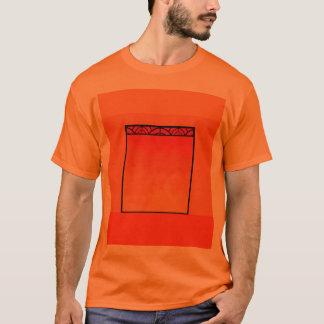 T-shirt Verre souillé 2 d'art déco orange