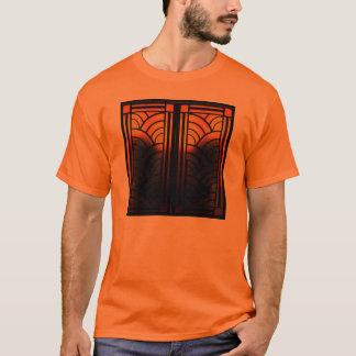 T-shirt Verre souillé d'art déco orange