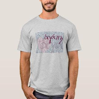 T-shirt Vers de bible d'amour sur la chemise chrétienne