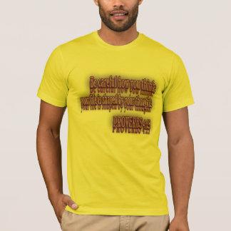 T-shirt Vers de bible de 4h23 de PROVERBES