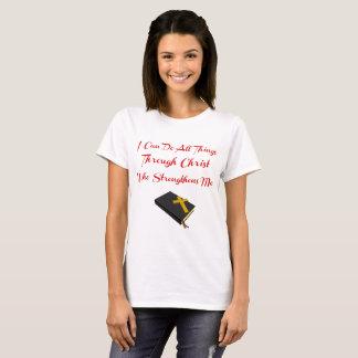 T-shirt Vers inspiré de bible. 4h13 de Philippiens