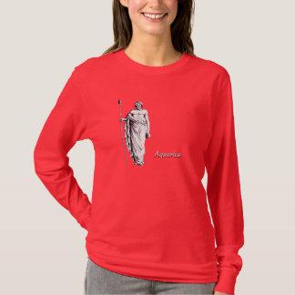 T-shirt Verseau sur l'obscurité avec le texte