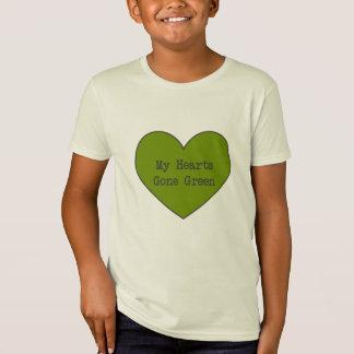 T-Shirt Vert à la chemise organique de coeur
