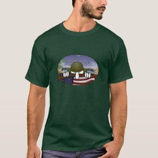 T-shirt vert de Kilroy de la guerre mondiale 2