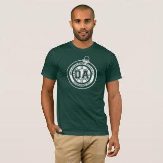 T-shirt Vert de pièce en t de tasse de congé annuel de