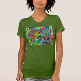 T-shirt Vert OLIVE : Racerback des femmes