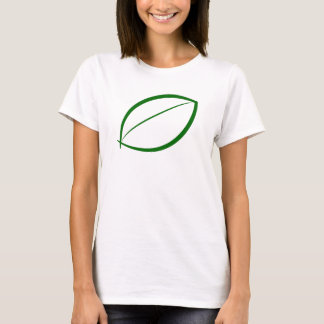 T-shirt vert simple de feuille