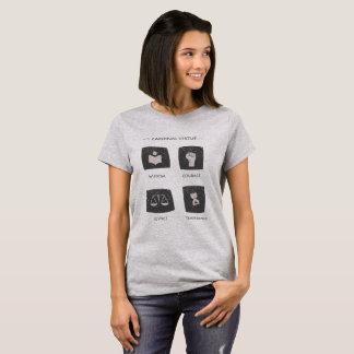 T-shirt Vertu cardinale