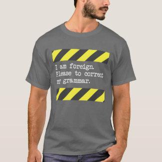 T-shirt Veuillez corriger ma grammaire