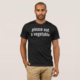 T-shirt veuillez manger un légume